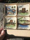 Vintage Virgin Islands Souvenir Boxed Set 4 ashtrays Dish Plate Japan