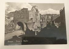 Vintage post card Postcard - Pompei Pompeii - Ovens and Mills, Italy 1950's