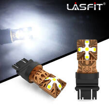 Lasfit 3157 4114 4157 LED DRL Driving Daytime Running Light Bulb Kit 6000K White
