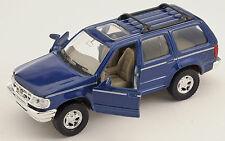 BLITZ VERSAND Ford Explorer blau / blue Welly Modell Auto 1:34 NEU & OVP