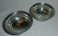 Pair of Solid Silver Nut Dishes, Gorham Manufacturing Company, USA 1892