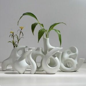 Ceramics Vase Nordic Creative Flower Pot Minimalist Abstract Home Decor Ornament