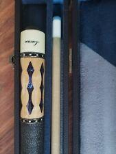 New listing LUCASI Custom Billiards Pool Cue Stick Birdseye Blue Inlays LZ2004 With CASE