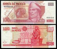 MEXICO 100 PESOS 2000 P 118 SERIES BY UNC