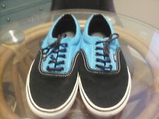 Vans Mens Size 9.5, Black and Blue, Pre-owned, Canvas