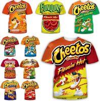 Hot Cheetos food Funny 3D Print Women/men Casual T-Shirt Short Sleeve Tops