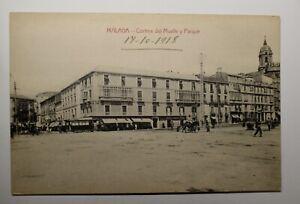 POSTAL de MALAGA del año 1918.EXTRAORDINARIO ESTADO.