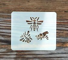 Bees Hornets Face Painting Stencil 7cm x 6cm 190micron Washable Reusable Mylar