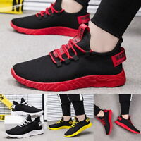 Men's Fashion Running Breathable Shoes Sports Casual Walking Athletic Sneakers a