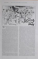 1896 BOER WAR HOW CHRISTMAS IS SPENT IN THE NAVY BY CMNDR E.P.STATHAM R.N
