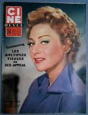 ►CINE REVUE 49/1955-MARTINE CAROL-GEORGES GUETARY-DANIELLE DARRIEUX-RORY CALHOUN