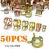 50Pcs Fastener 5-9mm Spring Clip Fuel Water Line Hose Pipe Air Tube Clamps