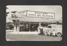 POSTCARD:  GULF-BAY RADIO AND TELEVISION STORE - CLEARWATER, FL - Unused, 1950s