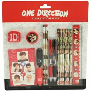 BRAND NEW Official 1D One Direction 16 Piece Super Stationery Set SCHOOL SET