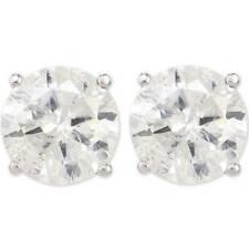 Большой 3.40 кар бриллиантовые запонки D/I1 14k белое золото женские серьги усиленная