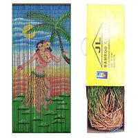 JL TRADING Bamboo Bead Door Curtain Dancing Hula Girl Panel Screen Room Divider