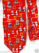 Vintage SNOOPY on the Computer Necktie ***Licensed Merchandise*** PEANUTS!