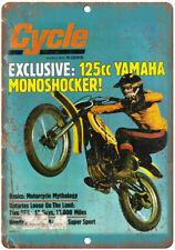 "1975 Cycle Dirt Bike Yamaha 125CC Cover Art  10""x7"" Reproduction Metal Sign A372"