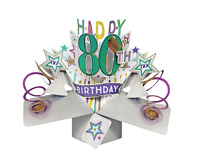 Happy 80th Birthday Pop-Up Greeting Card Original Second Nature 3D Pop Up Cards
