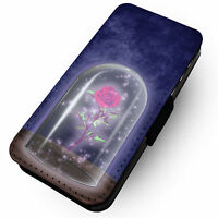 Beasts Rose -Faux Leather Flip Phone Cover Case- Beauty Prince Witch Belle Curse