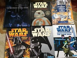 STAR WARS - 6 BOOKS - VISUAL DICTIONARY, ULTIMATE VISUAL GUIDE AND FOUR OTHERS