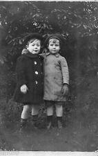 BJ134 Carte Photo vintage card RPPC Enfant colorié mode fashion béret manteau