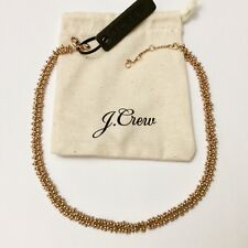 J.Crew Beaded Necklace With Pouch NWT Authentic