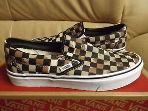 Vans Classic Slip On (Checkerboard) Men's Size 11 Camo Desert/White VN0A4BV3V4P