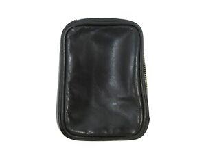 Authentic LOUIS VUITTON Leather Mini Pouch Case Black 83637
