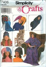 Simplicity 7406 HATS TOTE Blanket Bag Andrea Schewe sewing pattern UNCUT FF