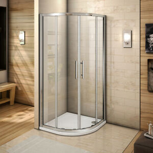 Quadrant Shower Enclosure and Tray Walk In Corner Cubicle 6mm Glass Screen Door