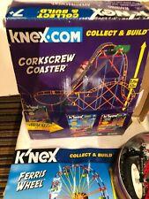 K'Nex Ferris wheel, coaster and misc. parts w/ instructions and 1 motor, box