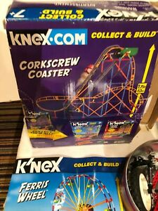 K'NEX Ferris wheel, coaster and misc. parts w/ instructions and 1 motor, box