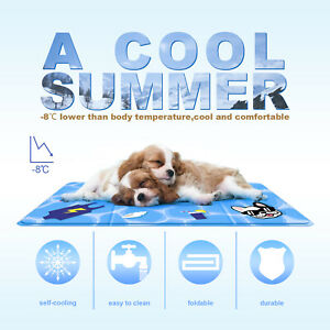 Summer party Gopetee gel cooling ice pad Pet Mat double-sided printing square