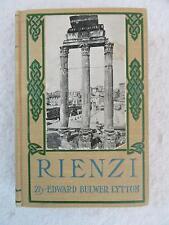 Edward Bulwer Lytton RIENZI Thomas Y.  Crowell circa 1908
