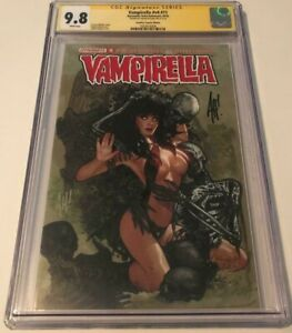 Dynamite VAMPIRELLA v4 #11 CGC 9.8 SIGNED BY ADAM HUGHES VARIANT COVER FRANKIE'S