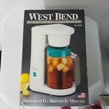 West Bend Electric 2 Qt Iced Tea Maker #6050 Brew Basket  Made in USA - Vtg  EUC