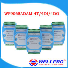 4 Channels K Thermocouple 4DI 4DO Module, RS485 Modbus Remote Data Acquisition