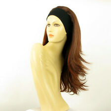 headband wig long brown copper wick light blonde and red BENEDICTE 33H130