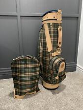Hosanna Plaid Canvas Leather Golf Bag