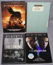 Christopher Nolan DVD LOT: Batman Begins, Memento, Following, The Prestige