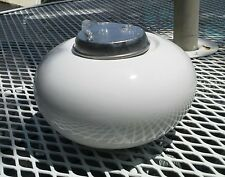 """New listing New Tabletop Fire Bowl By Island Lights Outdoor Decor Fire White 6"""" Dia"""