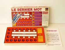 Ancien jeu de Société - LE DERNIER MOT - Jeu de lettres - Robert Laffont 1974