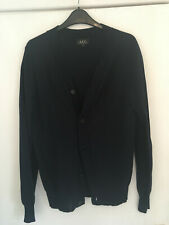 APC A.P.C navy blue men's cardigan size small