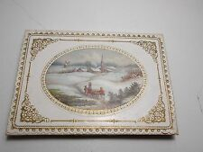 ANTIQUE VICTORIAN GREETINGS CARD  NEW YEAR CHAS GOODALL LIFT UP ORIGINAL BOX