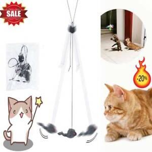 Adjustable Hanging Door Window Mouse/Rat Interactive Cat Toy Flutter Oscillating