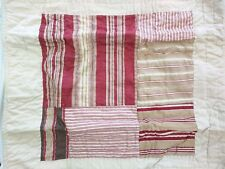 2 Pottery Barn Vintage Stripe Patchwork Quilted Shams,  Euro size, S/2