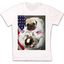 Astronaut Pug Slope Funny Dog Gift Retro Vintage Hipster Unisex T Shirt 1885