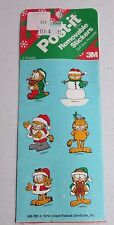 vintage garfield Christmas post-it removable stickers.......2 sheets sealed