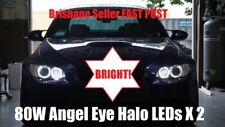 BRIGHTEST 80W! BMW E87 E90 E92 E93 E70 X5 LED 80W H8 White Angel Eye Halo Rings